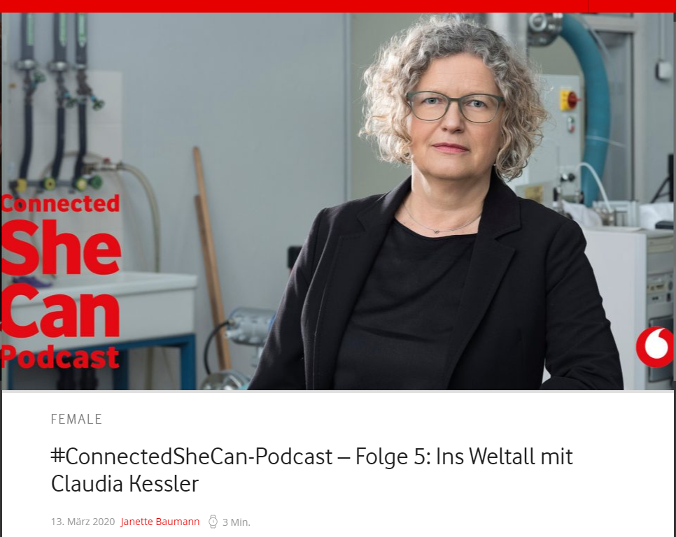 connected She Can- vodafone, Podcast mit Claudia Kessler
